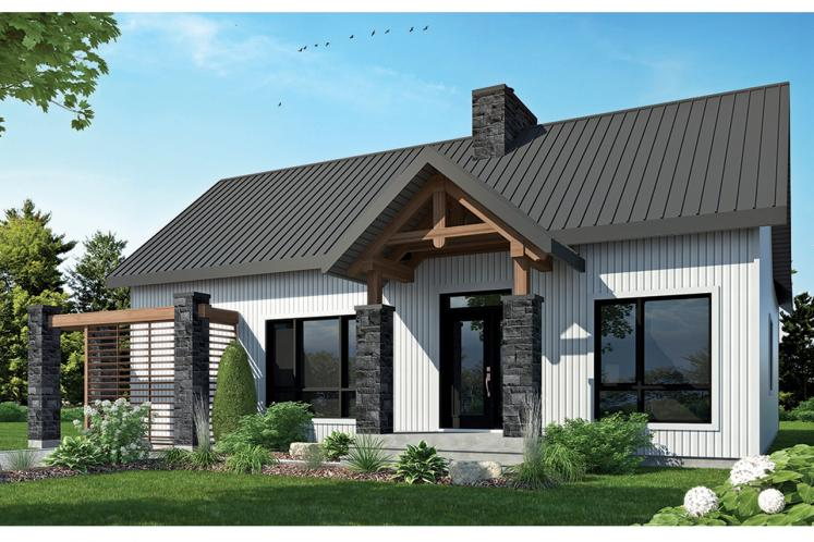 Farmhouse House Plan - Olympe 86940 - Front Exterior