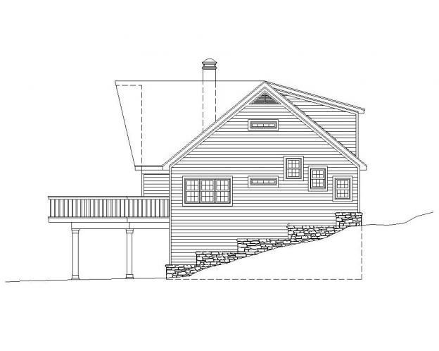 Cottage House Plan -  87068 - Right Exterior