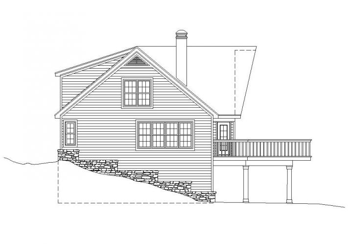 Lodge Style House Plan -  87068 - Left Exterior