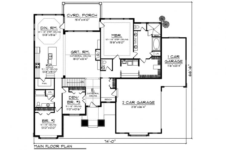 Southwest House Plan -  87072 - 1st Floor Plan