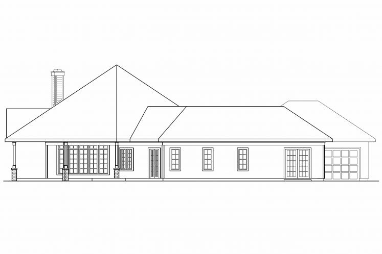 Ranch House Plan - Myersdale 87108 - Left Exterior