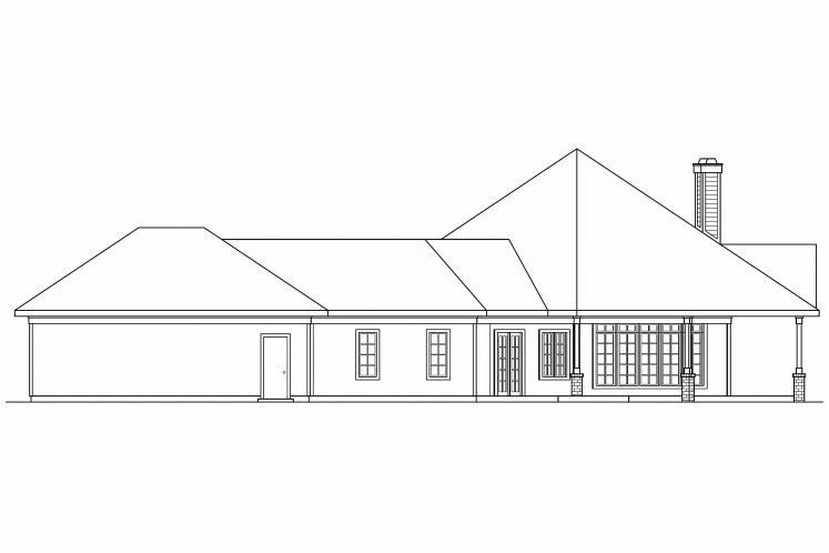Southern House Plan - Myersdale 87108 - Right Exterior
