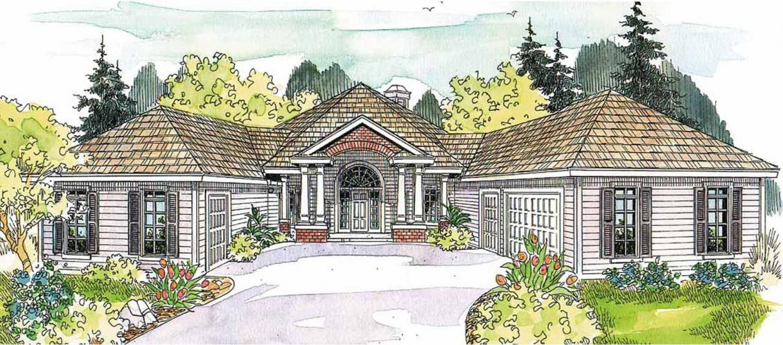 Southern House Plan - Myersdale 87108 - Front Exterior