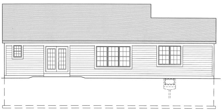 Country House Plan - The Seacrest 87152 - Rear Exterior