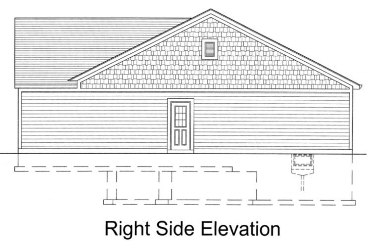 Traditional House Plan - The Seacrest 87152 - Right Exterior