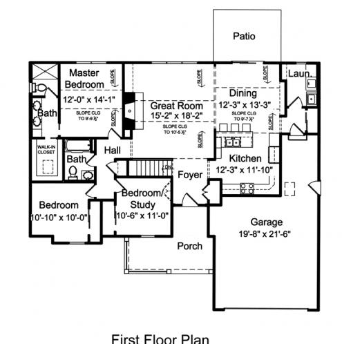 Country House Plan - The Seacrest 87152 - 1st Floor Plan
