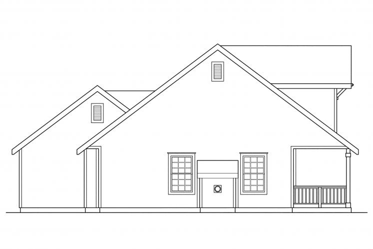 Country House Plan - Lockhart 87198 - Left Exterior