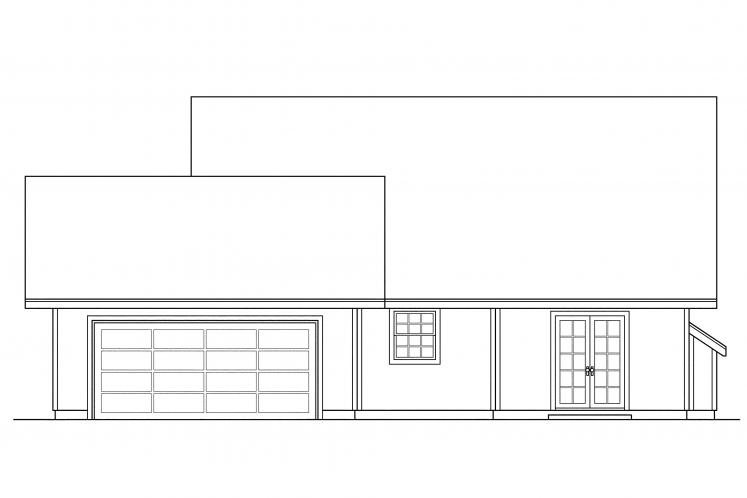Cottage House Plan - Lockhart 87198 - Rear Exterior