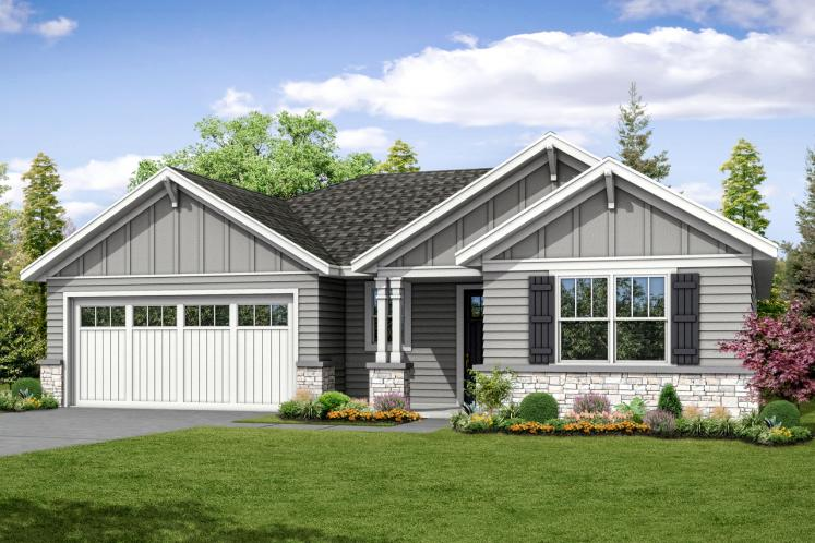 Ranch House Plan - Flagstone 87225 - Front Exterior