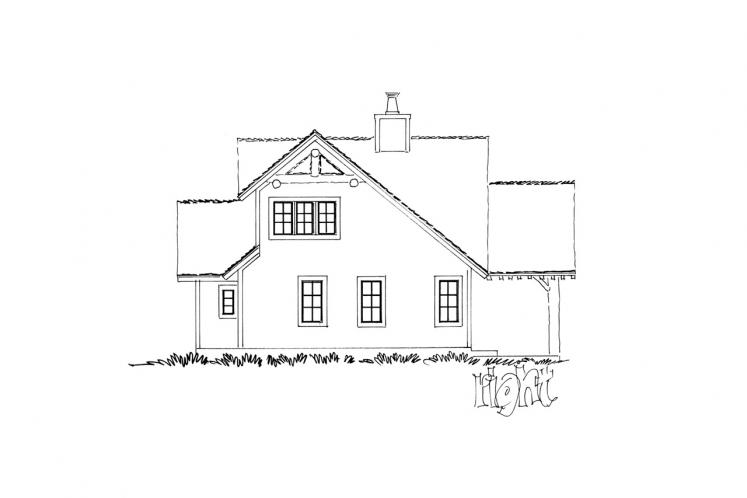Country House Plan - Red Wing 87255 - Right Exterior