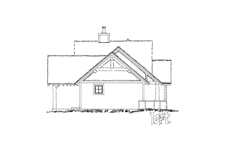 Craftsman House Plan - Red Wing 87255 - Left Exterior