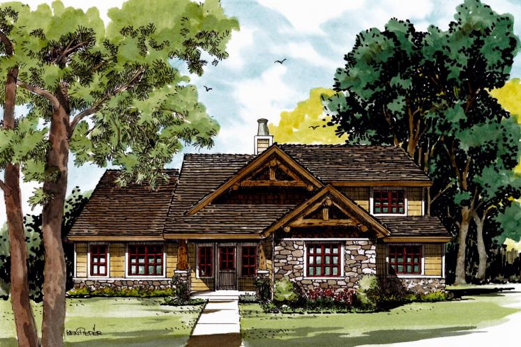 Craftsman House Plan - Red Wing 87255 - Front Exterior