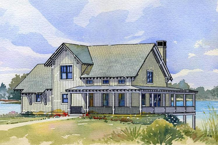 Country House Plan - Bluewater 87491 - Front Exterior