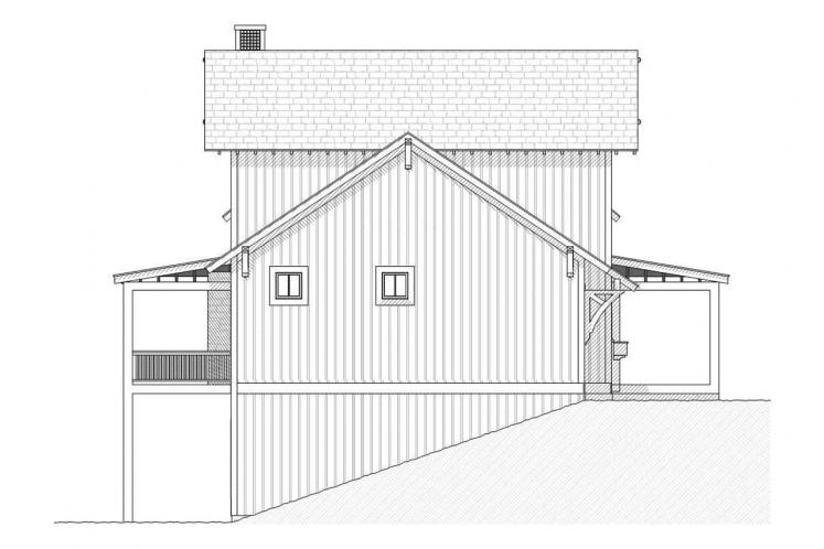 Country House Plan - Bluewater 87491 - Left Exterior