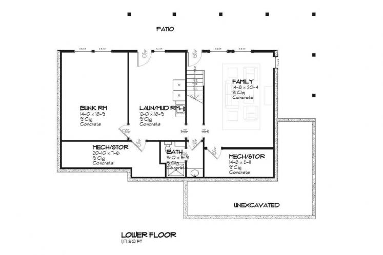 Country House Plan - Bluewater 87491 - Basement Floor Plan