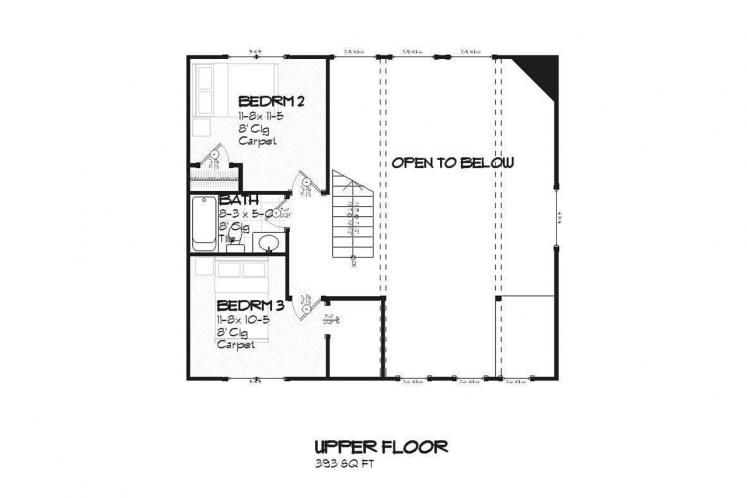 Cottage House Plan - Bluewater 87491 - 2nd Floor Plan