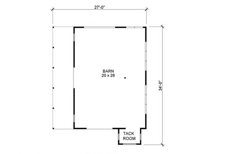 Country  - Little Red Barn 87497 - 1st Floor Plan