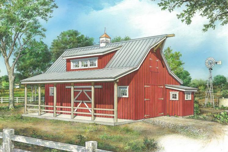 Farmhouse  - Little Red Barn 87497 - Front Exterior