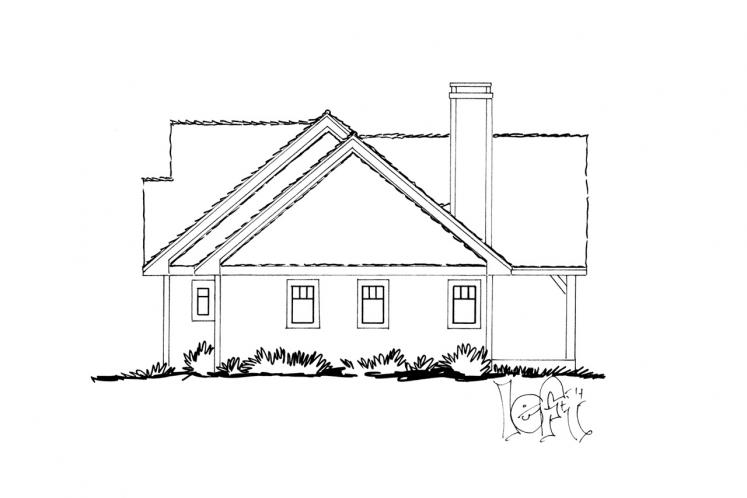 Traditional House Plan - Cherokee 87514 - Left Exterior