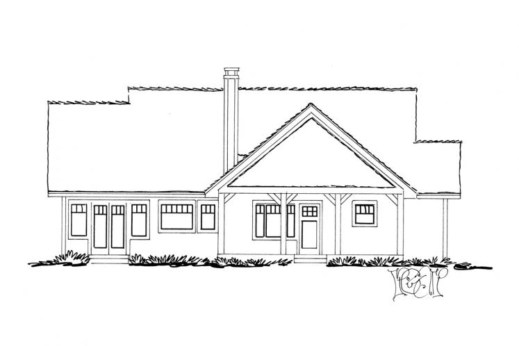 Country House Plan - Cherokee 87514 - Rear Exterior