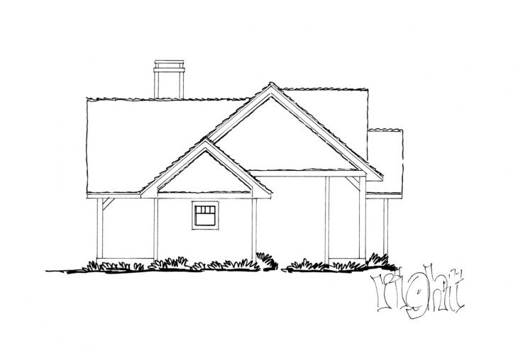 Ranch House Plan - Cherokee 87514 - Right Exterior
