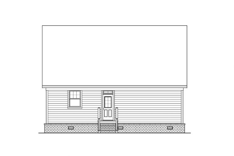 Cottage House Plan -  87523 - Rear Exterior