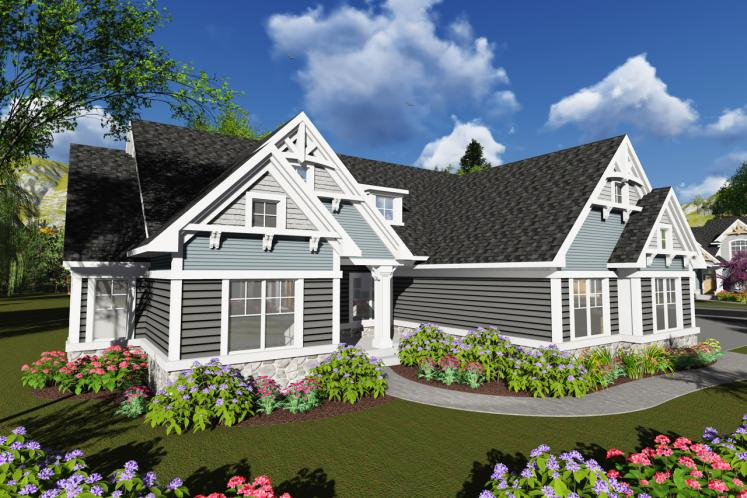 Craftsman House Plan -  87835 - Front Exterior