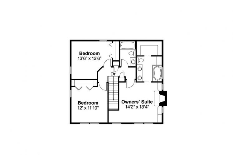 Southern House Plan - Green Acre 87935 - 2nd Floor Plan