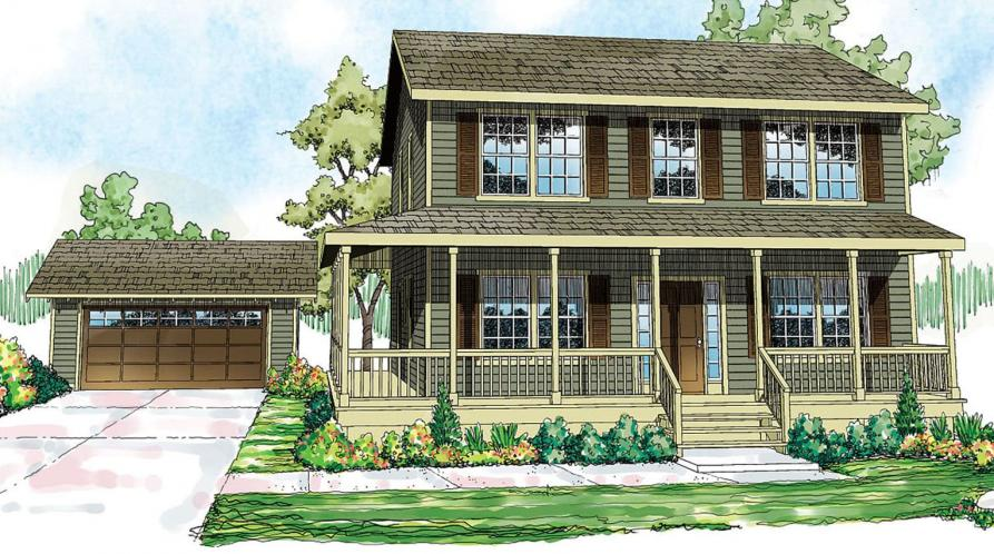 Country House Plan - Green Acre 87935 - Front Exterior