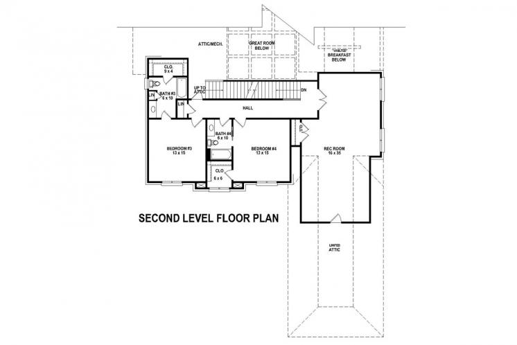Traditional House Plan -  87960 - 2nd Floor Plan