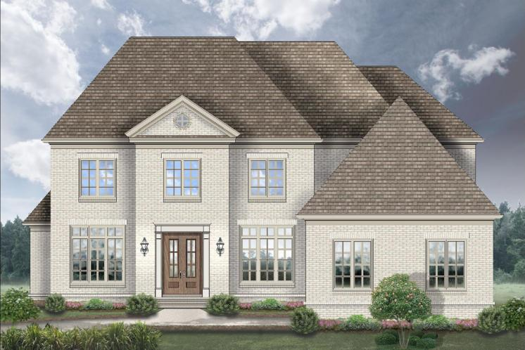 European House Plan -  87960 - Front Exterior