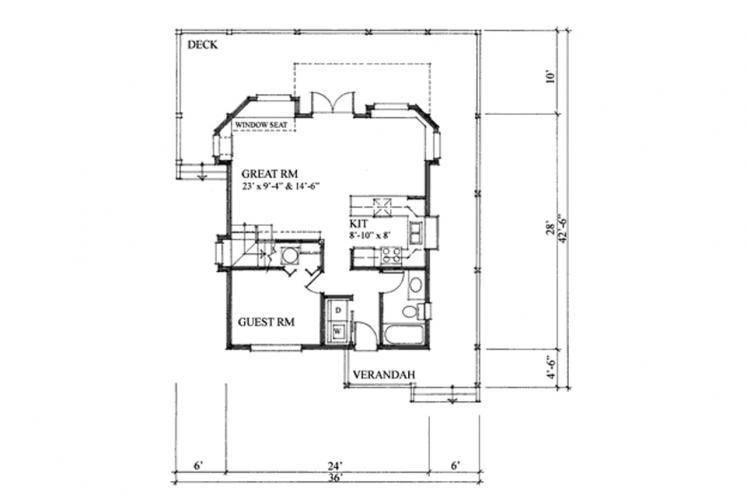 Craftsman House Plan - Seamark 88053 - 1st Floor Plan
