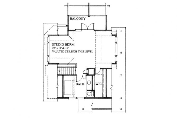 Cottage House Plan - Seamark 88053 - 2nd Floor Plan