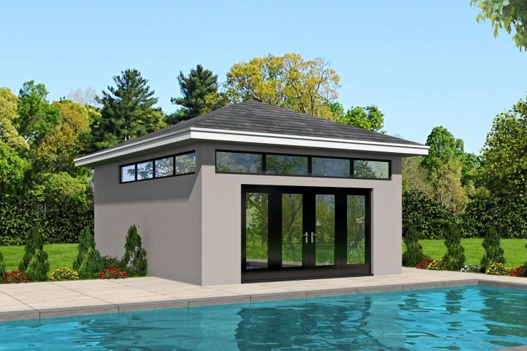 Traditional  - Mariner Poolhouse 88144 - Front Exterior