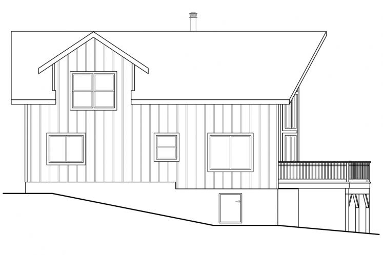 Lodge Style House Plan - Timber Hill 88150 - Left Exterior