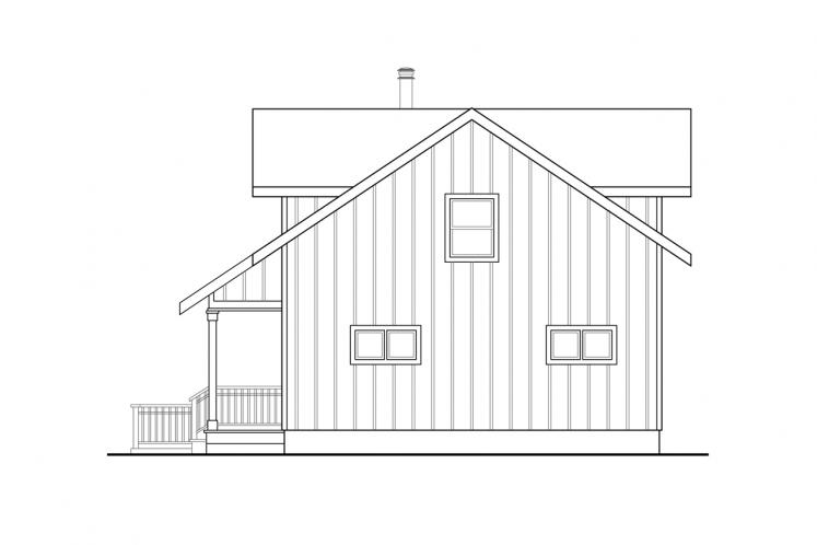 Cottage House Plan - Timber Hill 88150 - Rear Exterior