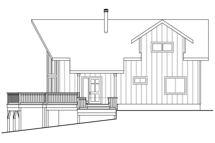 A-Frame House Plan - Timber Hill 88150 - Right Exterior