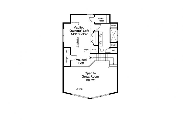 Lodge Style House Plan - Timber Hill 88150 - 2nd Floor Plan