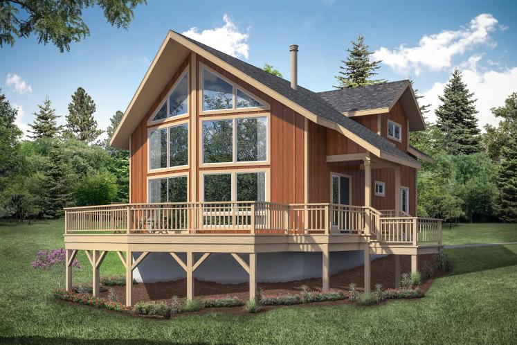 A-Frame House Plan - Timber Hill 88150 - Front Exterior