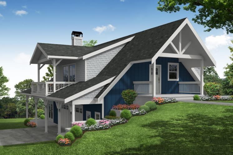 Cottage House Plan - Glencove 88182 - Front Exterior