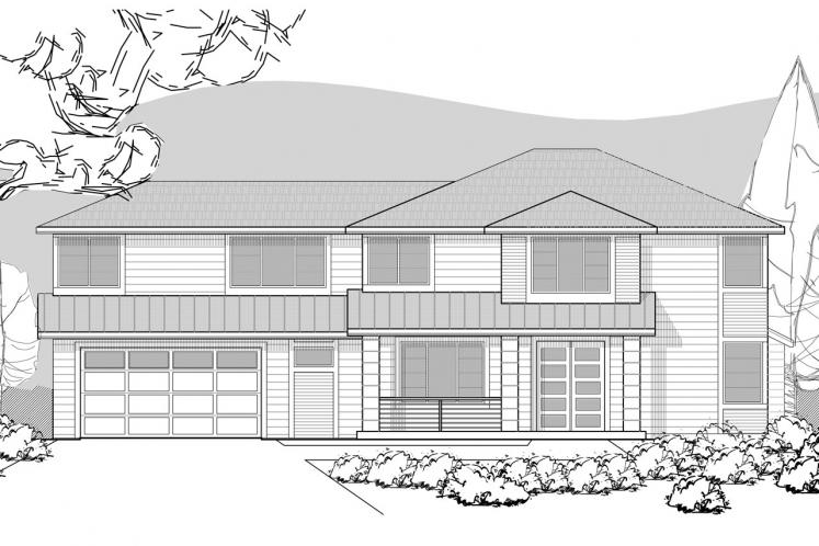 Contemporary House Plan -  88188 - Front Exterior