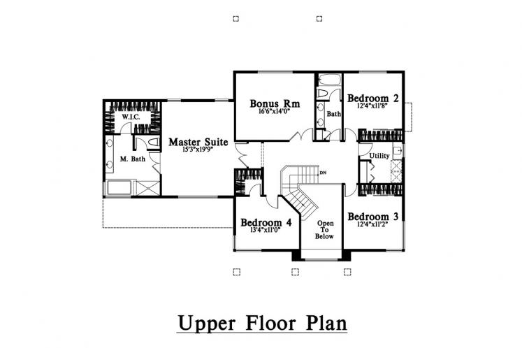 Modern House Plan -  88188 - 2nd Floor Plan