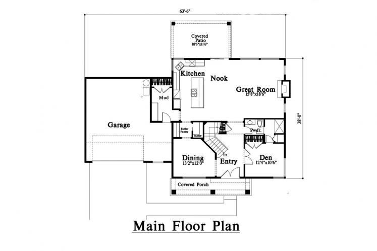 Contemporary House Plan -  88188 - 1st Floor Plan