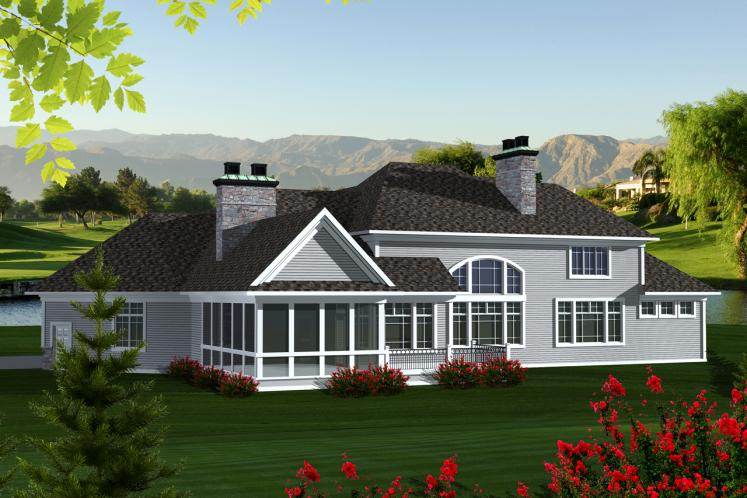 Classic House Plan -  88217 - Rear Exterior