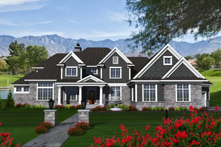Traditional House Plan -  88217 - Front Exterior