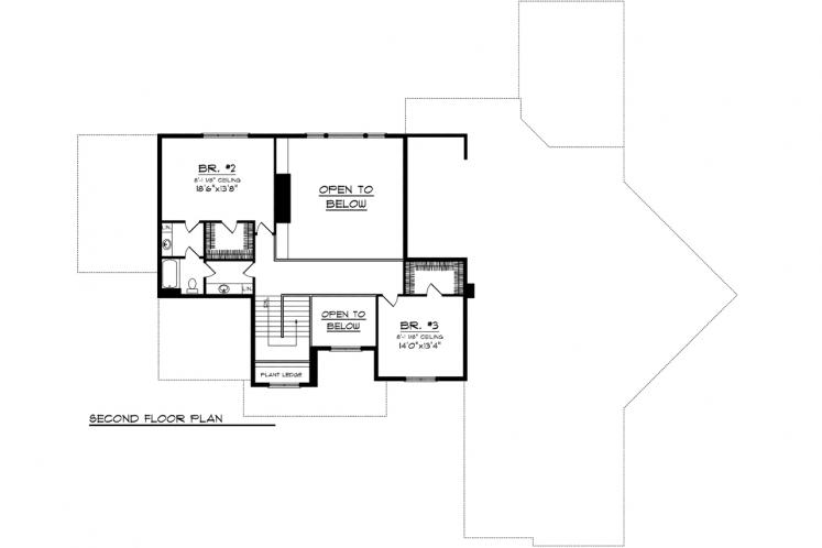 Classic House Plan -  88217 - 2nd Floor Plan
