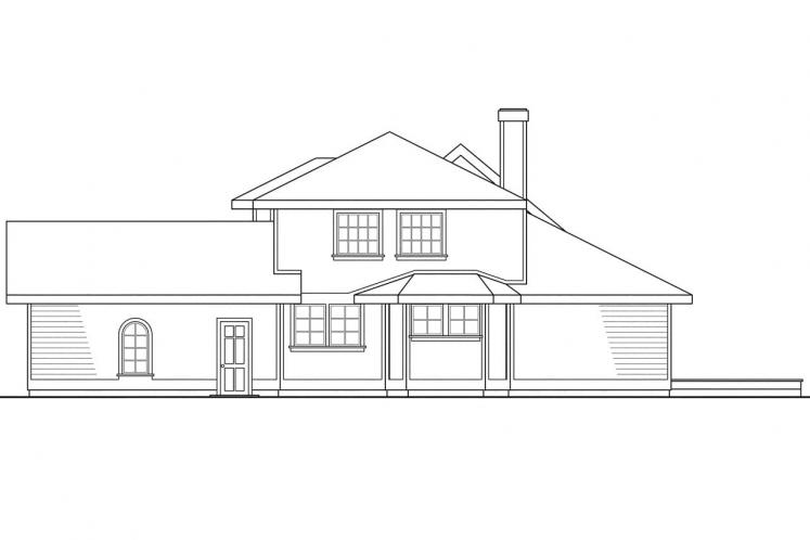 Country House Plan - Jasmine 88267 - Rear Exterior