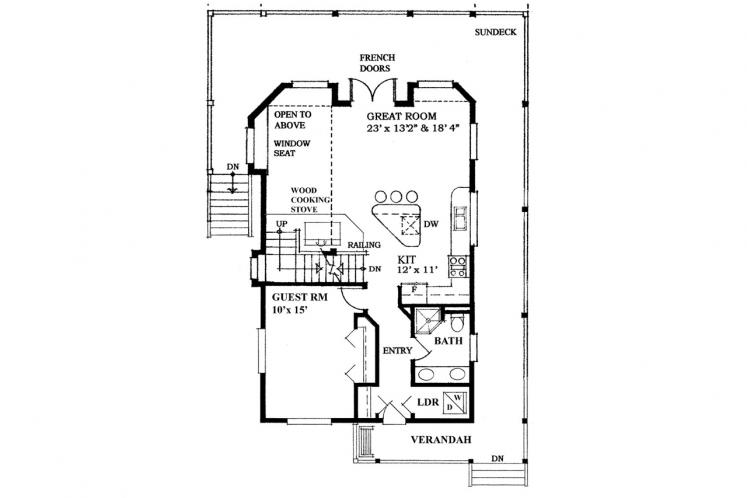 Contemporary House Plan -  88284 - 1st Floor Plan