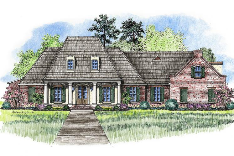 Classic House Plan - Natchitoches 88303 - Front Exterior