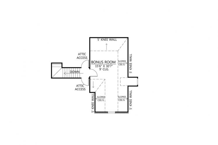 Southern House Plan - Natchitoches 88303 - 2nd Floor Plan